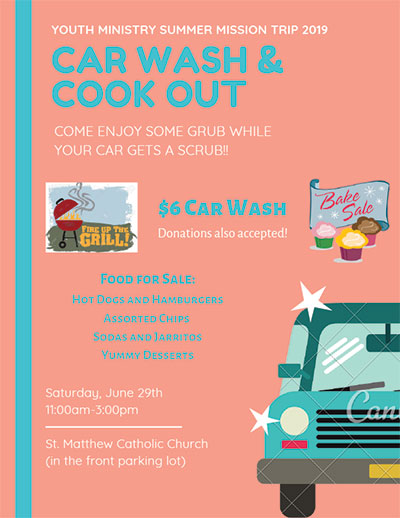 SMS Car Wash and Cookout 2019