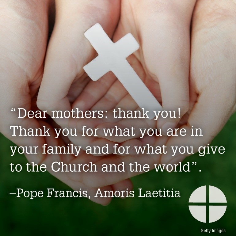 pope francis mothers day